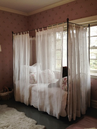 Wool Wall Covering Pleated Burlap Curtains Sheer Bed